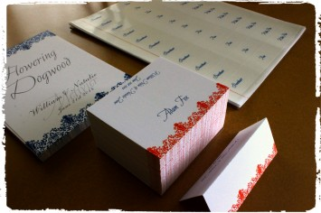 Victorian Lace Complete Set including, placecards, tablecards, table name labels for place cards.