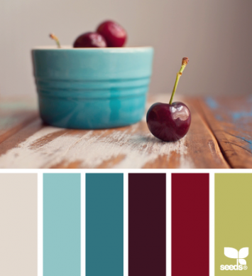 Cherry color palette with the perfect balance of sweet and tart.