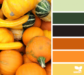 Autumn brights takes the weekly color inspiration.