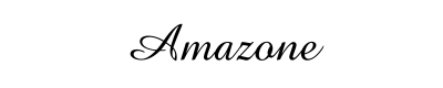 Amazone Font for Place Cards