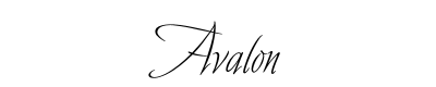 Avalon Font for Place Cards