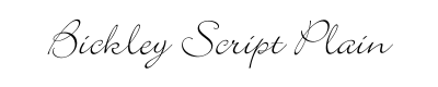 Bickley Script Font for Place Cards