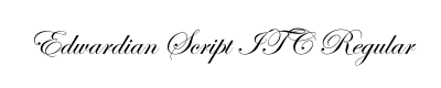 Edwardian Script ITC Regular Font for Place Cards