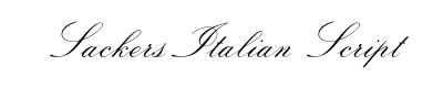 Sackers Italian Script Font for Place Cards