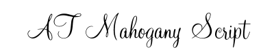 AT Mahogany Script Font for Place Cards