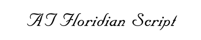 AT Floridian Script Font for Place Cards