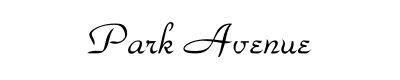 Park Avenue Font for Place Cards