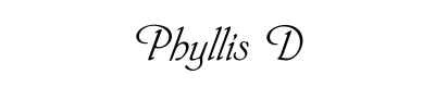 Phyllis D Font for Place Cards